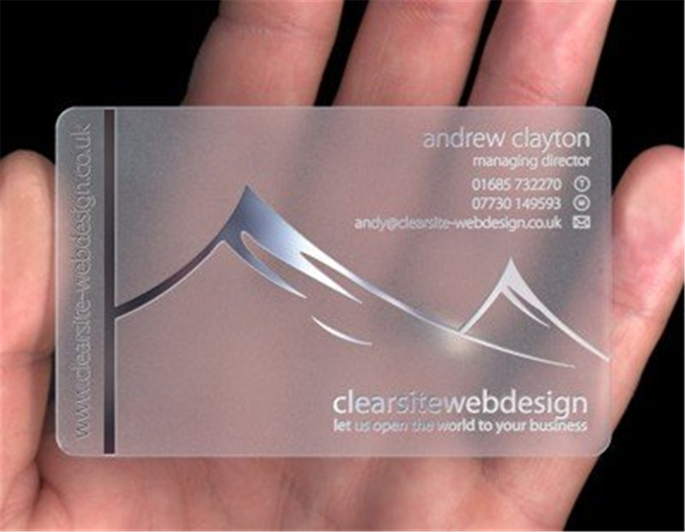 Cheap clear business cards best business 2017 inqqy clear plastic business card printing services colourmoves Gallery