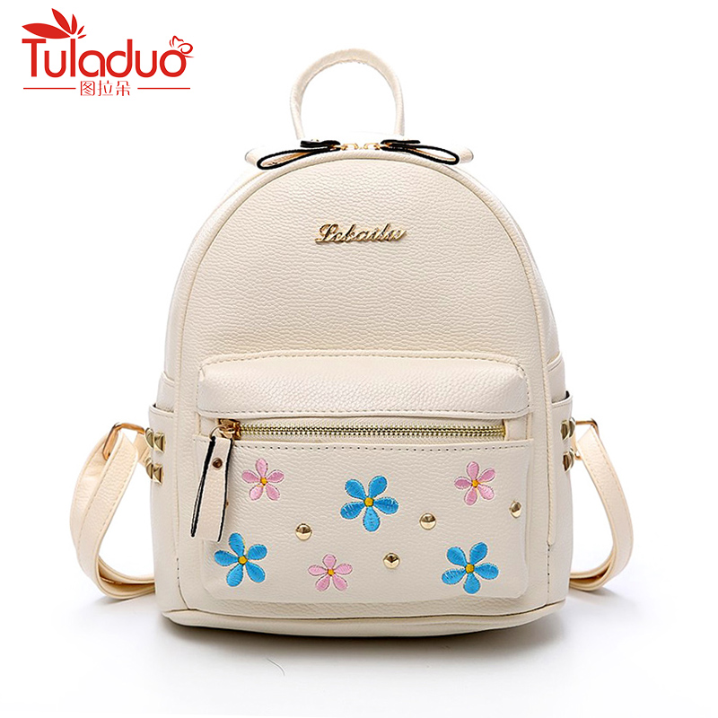 Cute Backpack High Quality Pu Leather Backpack Fashion Women Backpack Embroidery Backpacks For Teenage Girls School Bags 2018 ranhuang brand new 2017 high quality women genuine leather backpack women s luxury backpack fashion bags for teenage girls a871