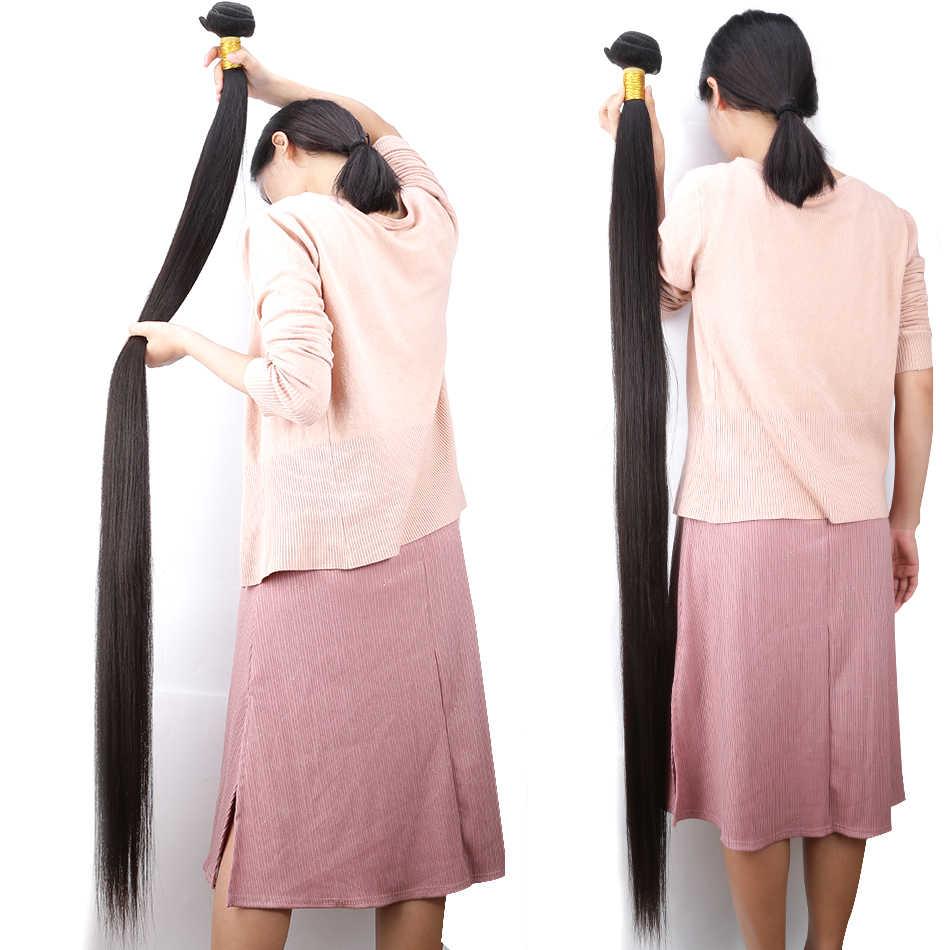 28 30 32 40 inç 1 3 4 Brezilyalı Düz Saç Örgü Demetleri Fırsatlar Çift Çizilmiş Ham Işlenmemiş Bakire Dokuma insan Saçı