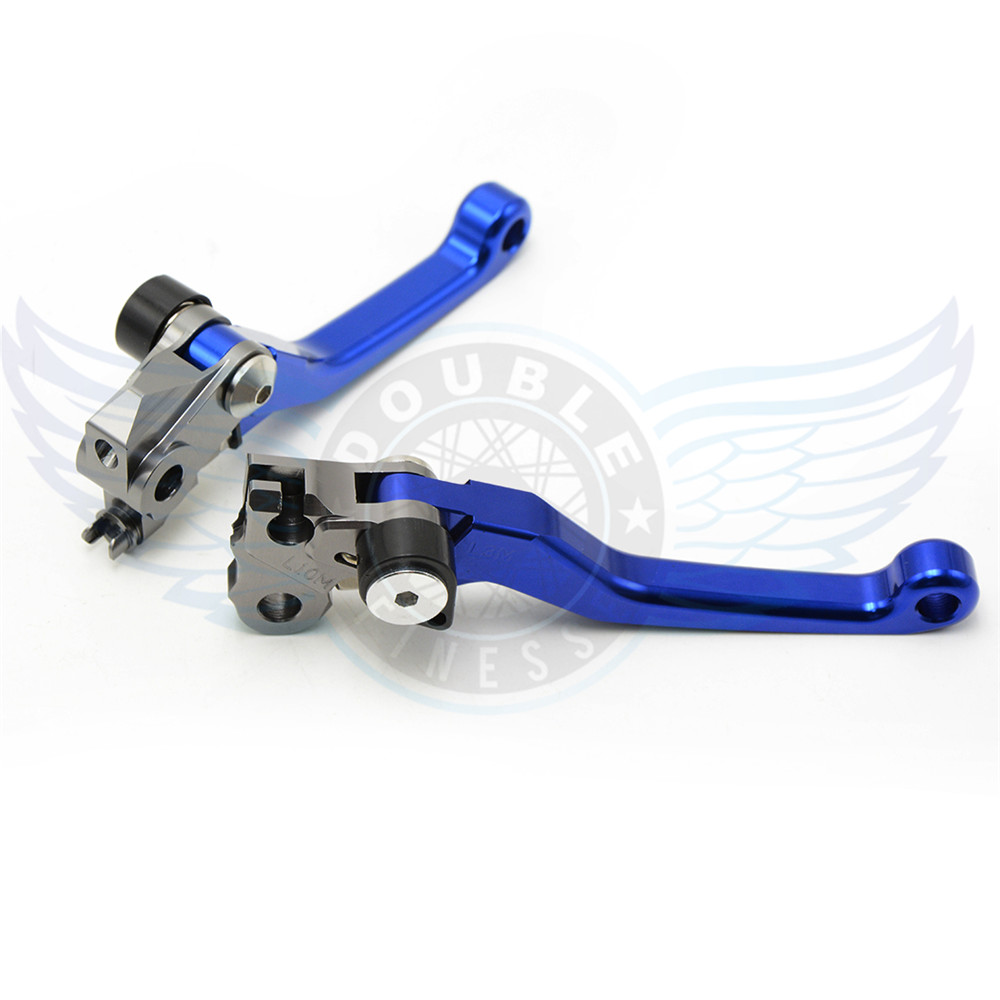 ФОТО 2016 new products motorcycle accessories folding Pivot Levers Brake Clutch cnc blue color For YamahaYZ250F 2007 2008