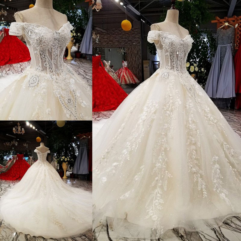 Image 2 - AIJINGYU Sexy Wedding Dresses Short Gown Bridal Lace Organza Cheap Off White Second Marriage Gowns Designer Wedding DressWedding Dresses   -
