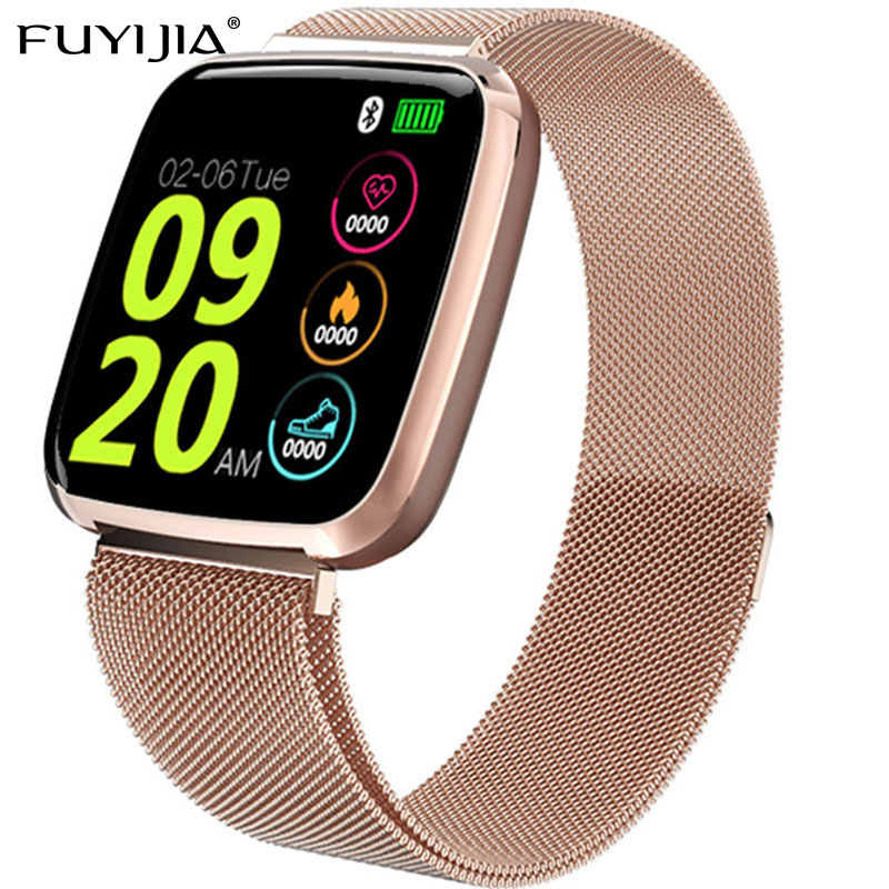 FUYIJIA Smart-Watch Square-Screen Ios Rose-Gold Digital Bluetooth ANDROID Men Relogio