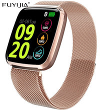 FUYIJIA 1.3 Inch TFT Square Screen Smart Watch Men Relogio Digital Rose Gold Smartwatch Woman Sports Bluetooth iOS ANDROID