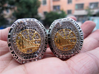 For DURANT And CURRY Drop Shipping 2017 Golden State Warriors Championship Ring 1 SET Wooden Box