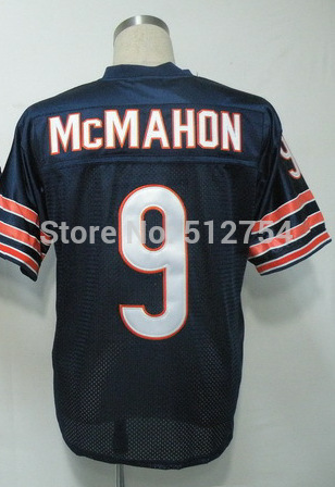 #9 Jim McMahon Jersey,Throwback Football Jersey,Best quality,Authentic Jersey,Size M--3XL,Accept Mix Order