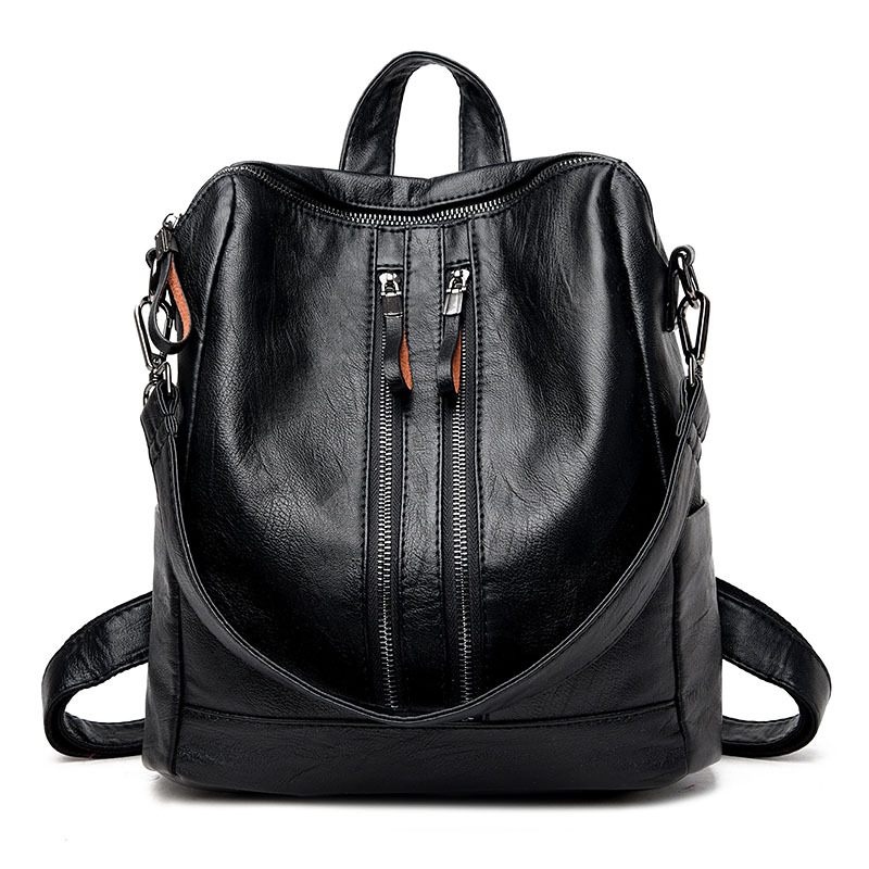 Multifunction women backpack PU leather school bag backpacks for teenage girls large capacity tote shoulder bag mochila feminina 2016new rucksack luxury backpack youth school bags for girls genuine leather black shoulder backpacks women bag mochila feminina