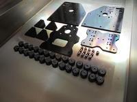Funssor 1set*OX CNC ROUTER GANTRY PLATES + 28 pcs SOLID V SLOT WHEELS 13 ECCENTRIC SPACERS