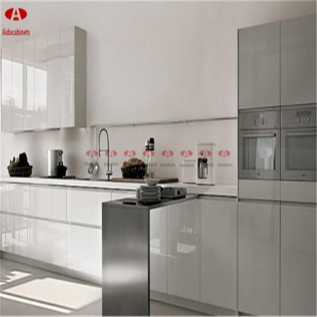 Kaca Cermin Modern Yang Stainless Steel Kabinet Dapur Dengan Engsel