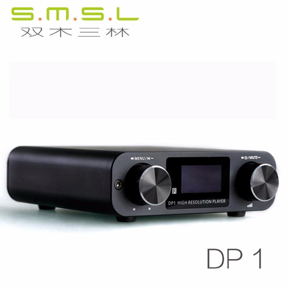 SMSL DP1 lecteur numérique USB SD Carte 32bit Audio DAC avec Intégré amplificateur de casque Haute Résolution Lecteur de Musique