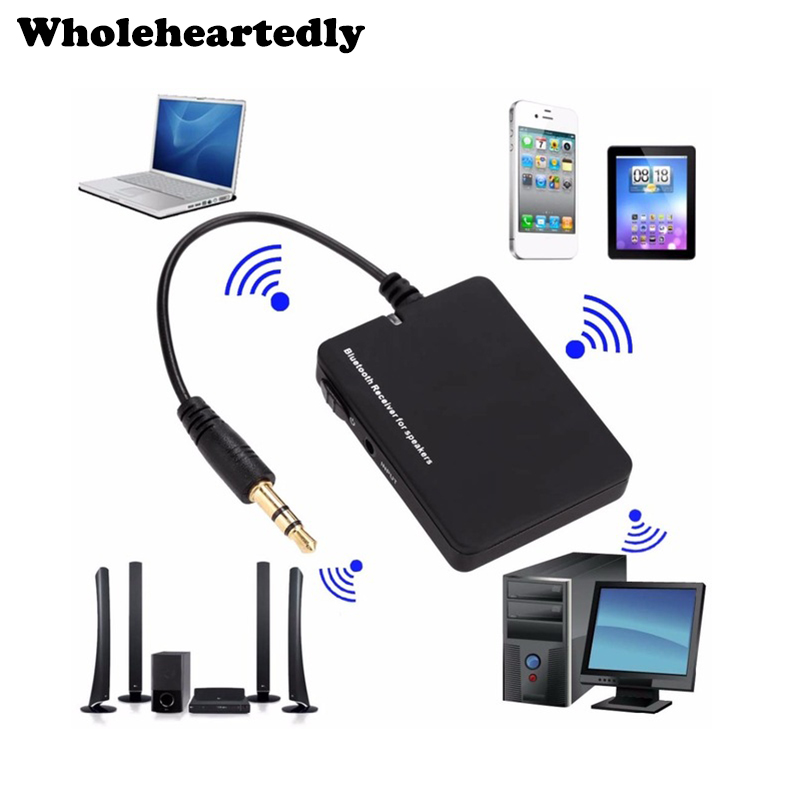 WHOLEHEARTEDLY Mini Bluetooth Portable Audio Receiver Audio Wireless 3.5mm Altoparlant Muzik Stereo A2DP AVRCP Adapter për PC Telefon MP3