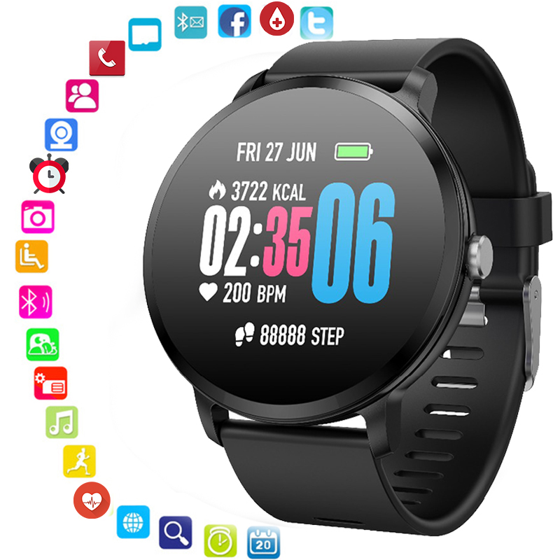 9Tong New Smart Watch Sport Smartwatch Heart Rate Message Reminder Fitness Bracelet Smart Band Remote Control Alarm Clock gift fashion children smart bracelet alarm reminder date agps camera wrist smart band waterproof best smart clock gift for boys girls