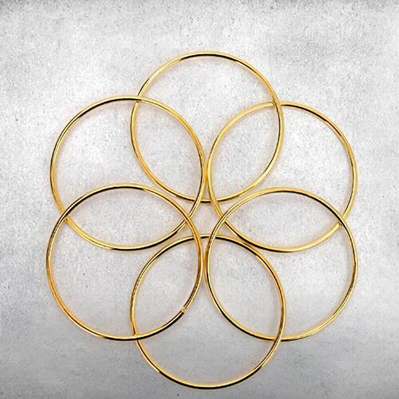 Reliant chaînes six anneaux or couleur Chinois anneaux tours de magie props magiques