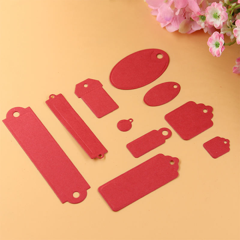 Labels Bookmark Tag Metal Die Cutting Stencil Scrapbooking Embossing Folder Suit for Cutting Machines in Cutting Dies from Home Garden