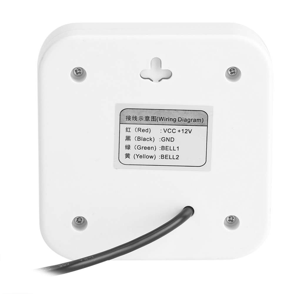 Dc 12v Door Bell Alarm External Wired Doorbell Wire Access Control Wiring Diagram Wires For Home Office System In Doorbells From Improvement On