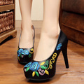 Quality PU leather women pumps shoes sexy white black Spike heels Fashion flowers ladies high heels shoes women bottine femme
