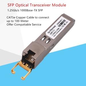 Image 5 - SFP RJ45 Gigabit Modulo 1000Mbps TX SFP RJ45 Interruttore di Rame Modulo Compatibile con Cisco/Mikrotik SFP In Fibra Ottica Gigabit Modulo