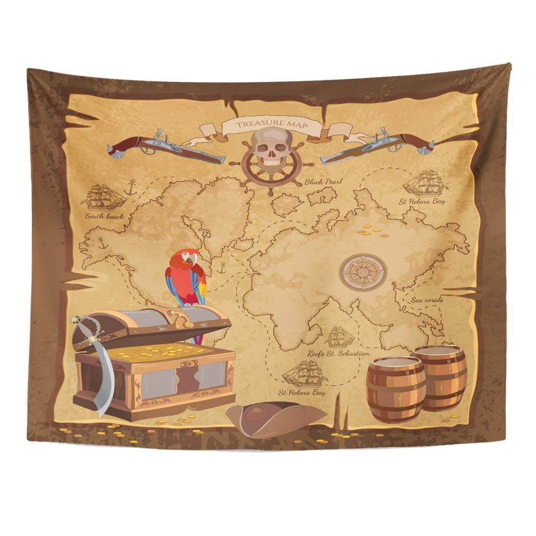 US $15.78 35% OFF|Tapestry Game Old Pirate Treasure Map Chest Parrot on map desk, map calf, map brain, map furniture, map roman britain, map table, map cabinet, map face, map of pinconning michigan, map clothing, map heart, map hands, map of cheat lake wv, map tongue, map drawers, map of lakes in france, map of alton illinois area, map compass north, map box,