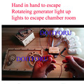 Hand in hand to escape rotateing generator light up lights to escape room props