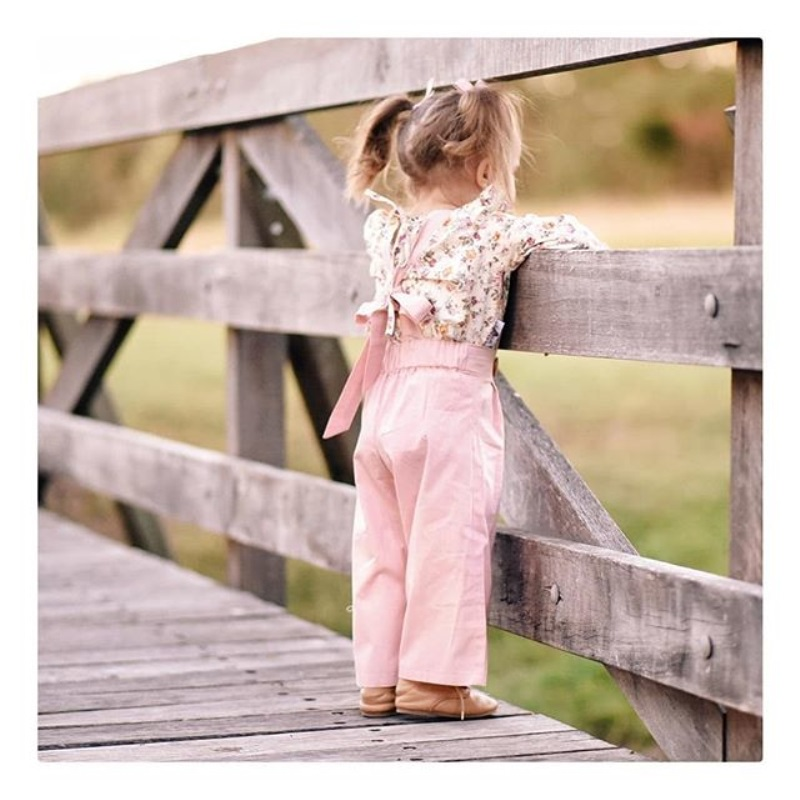 2PCS Toddler Kids Baby Girl Winter Clothes Floral Tops+Pants Overall Outfits sweet girl clothes set 2