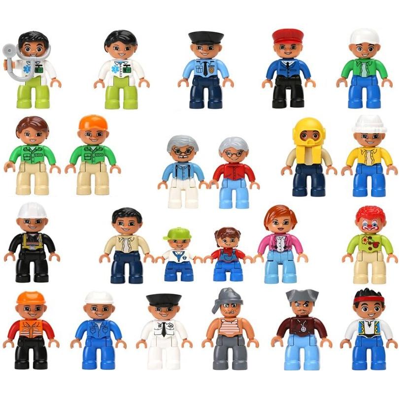 Popular toys for kid Building blocks creative children educational boy toy 5 years DIY assembling doll scene figure model decors