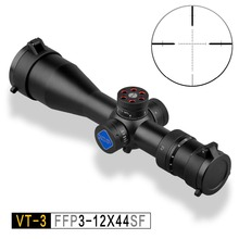 цена на Riflescope hunting Discovery VT-3 3-12X44 SF FFP compact First Focal Plane optical sight Sniper Tactical Airgun Rifle Scope