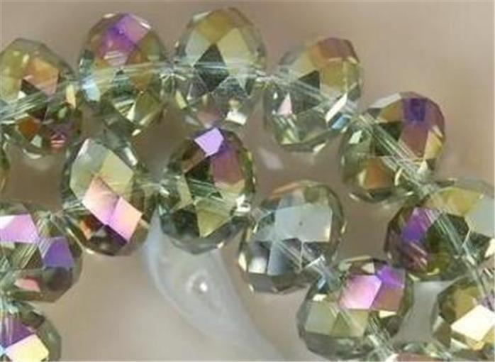 1000PC 3x4mm Gray Multicolor Crystal Faceted Gems Loose Beads 5040