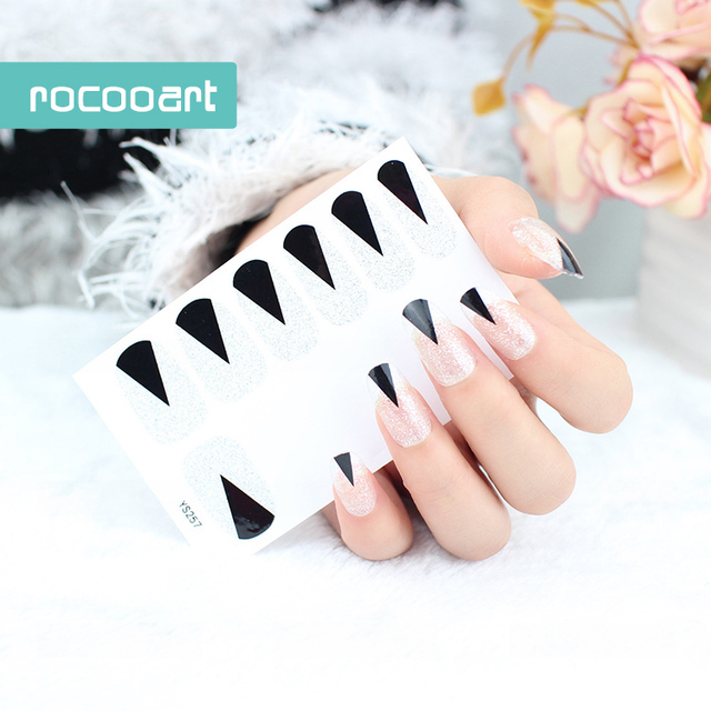 Beauty 2017 Non Toxic Self Adhesive Nail Art Stickers French Full ...