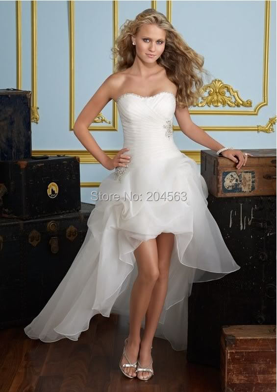 Popular Short Front Long Back Wedding Dress Buy Cheap Short Front
