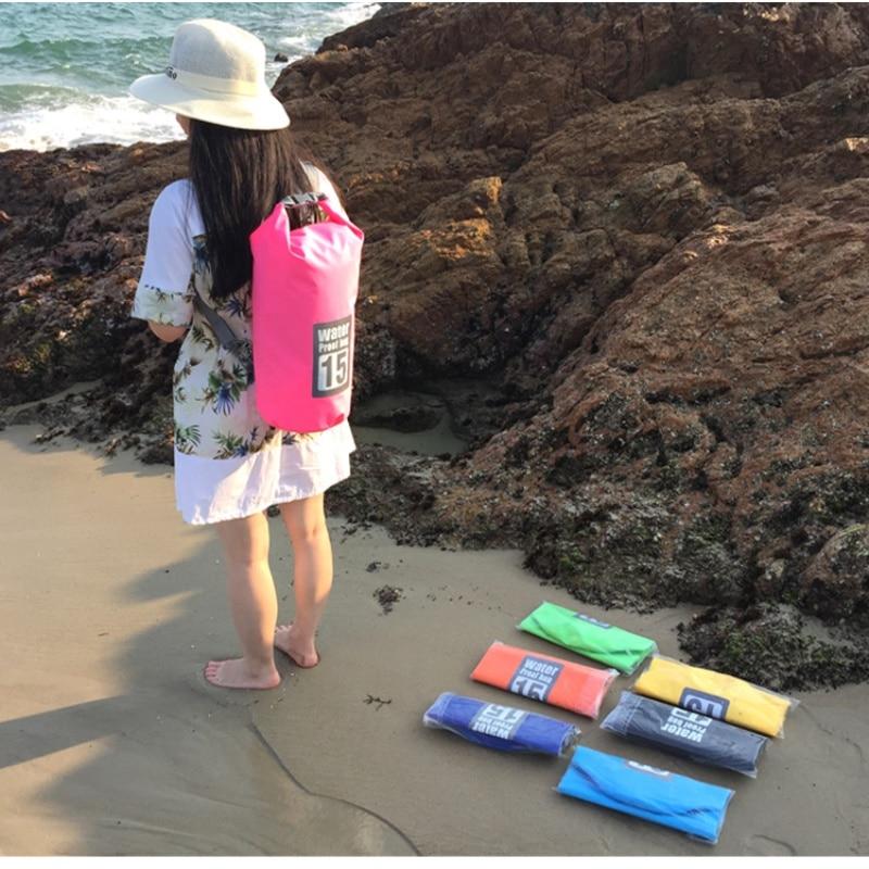 5L 10L Swimming Waterproof Bags Storage Dry Sack Bag For Canoe Kayak Rafting Outdoor Sport Bags Travel Kit Equipment