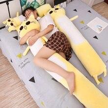 90 165cm duże rozmiary zabawki śliczny żółty kot Pllow miękka poduszka pluszaki kot pluszowe zabawki świąteczny prezent dla dzieci