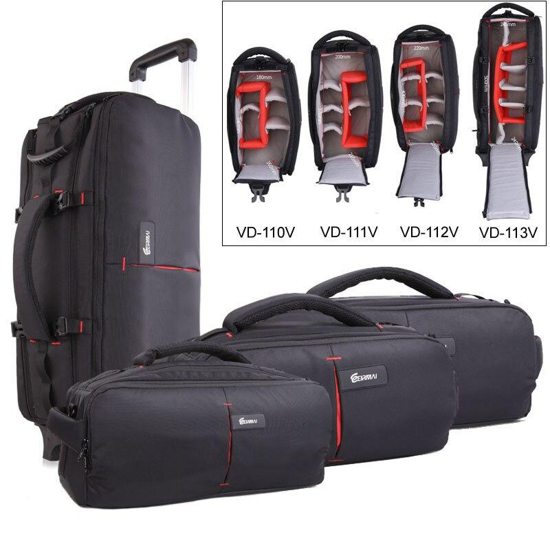 EIRMAI Photo Shoulder Camera Bag DSLR Nylon Bags Trolly Case Waterproof Shoulder Backpack Laptop Tripod Lens