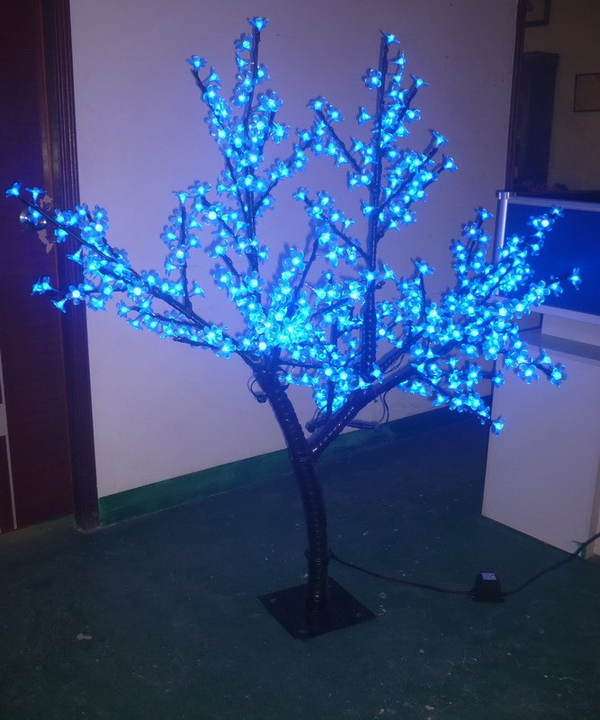 Free ship 5ft LED Artificial Cherry Blossom Tree Christmas new year wedding party Light 420pcs LEDs Outdoor Use