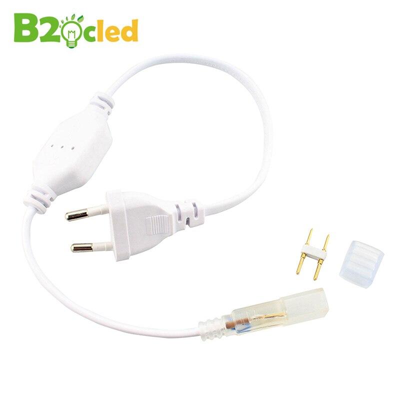 Free shopping Étanche 220 V 5050/3528 LED bande spécialisée Lecteur alimentation Connecteur prise eu/US flexible lumière Redresseur