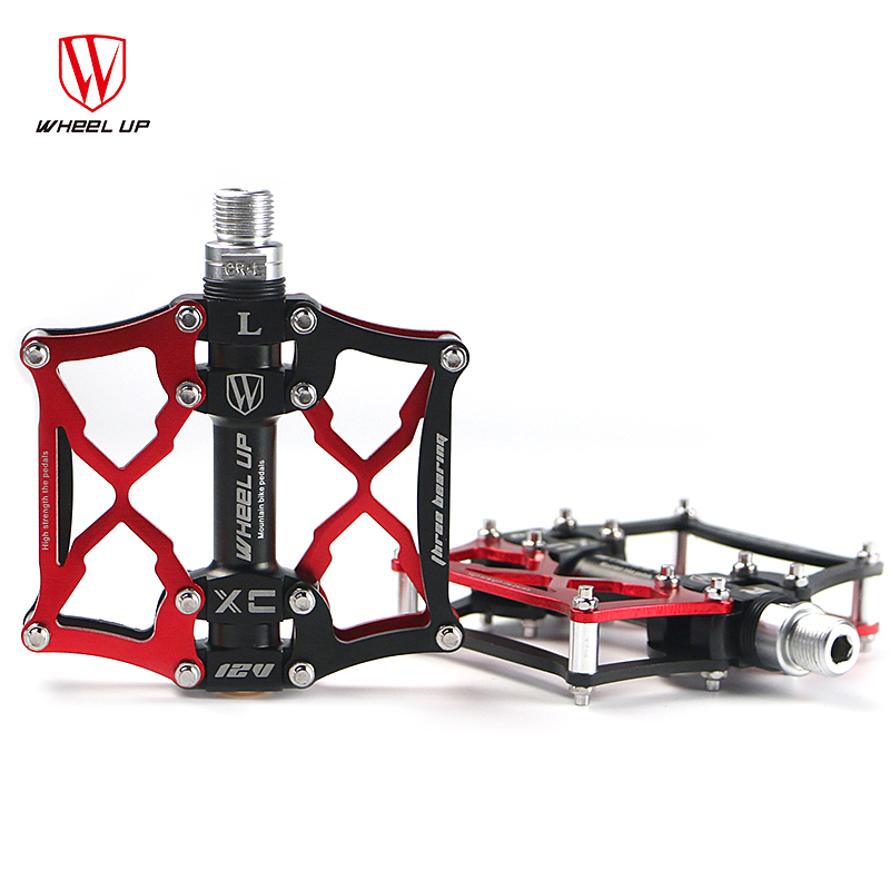 WHEEL UP 2016 new sealed bearing antiskid bike pedal for BMX cruisers MTB road bicycle ul-tralight bicycle bike hot new arrival 2016 new arrival bike pedal 4 colors board anode mountain bike nylon fiber bearing pedal bicycle anti skid dead fly feet