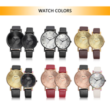 SKONE Fashion Luxury Quartz Couple Watches Water-Proof PU Le