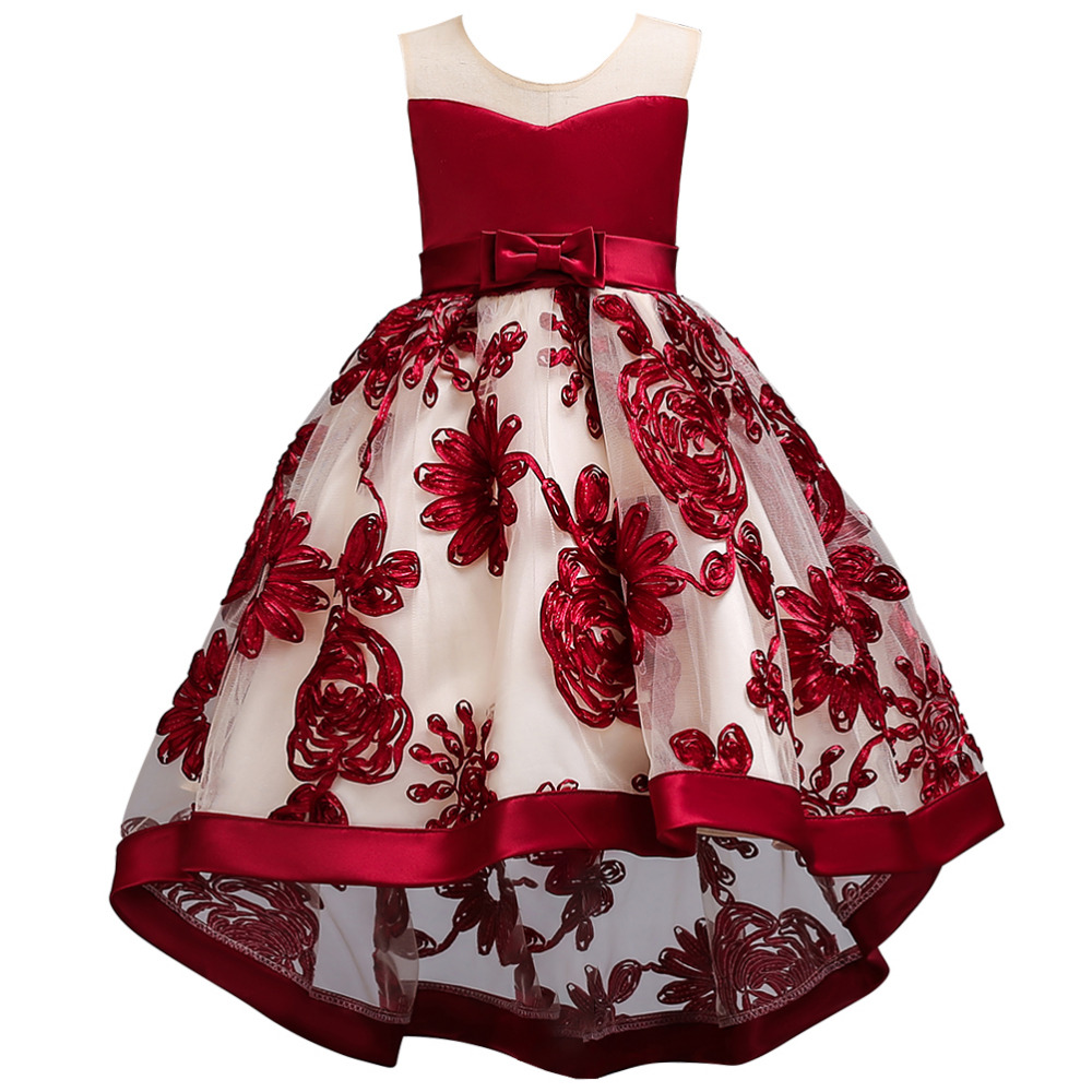 VKBRIDAL Sleeveless A-Line Lace Black   Flowers     Girl     Dresses   First Communion Dresse with Bow Tulle   Girls   Pink Pageant   Dresses