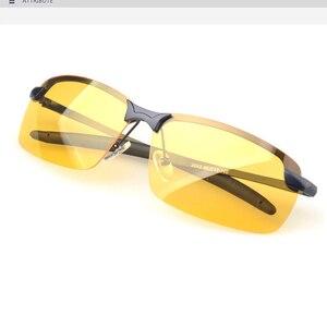 Image 3 - Day Night Vision męskie spolaryzowane okulary przeciwsłoneczne anty rażące okulary do jazdy nocą obiektyw żółty okulary modne okulary