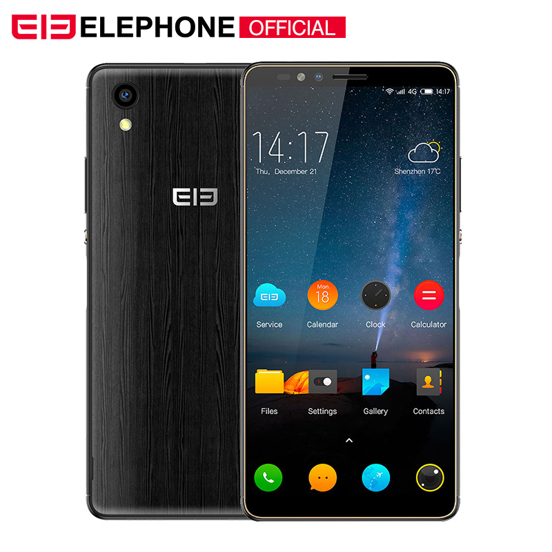 Elephone A2 5,47 18: 9 мобильный телефон Android 8,1 MT6580 четырехъядерный HD + 1 ГБ 8 ГБ 8 Мп + 2 МП отпечатков пальцев ID смартфон