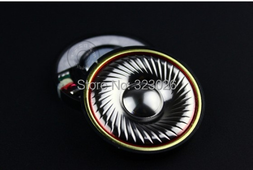 Headset titanium diaphragm fever hifi grade 50mm speaker unit 32ohms 1pair=2pcs 50mm speaker unit  plated beryllium unit