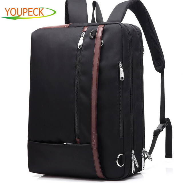 Convertible Laptop Bag 17 3 Inch Backpack Notebook Shoulder Messenger Case Handbag Business