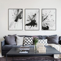3 pieces Canvas Art Prints Modern Abstract Poster Wall Art Picture for Living Room Wall decor Home Decoration