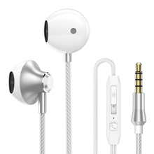 Hot Sale E6C Earphone Noise Canceling Headset Stereo Earbuds with Microphone for iPhone Airpods Earpods ptm earphone original s27 headphone brand headset with microphone earbuds for earpods airpods