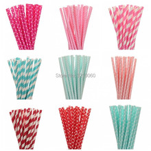 25pcs Pink Rose Red Blue Paper Straws 1pc Lovely Mickey Mouse Kids Happy Birthday Cupcake Topper Flags Creative Party Supplies