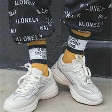 New Product Pure Cotton Men And Women Socks Street Skate Socks Letter In Socks Personality Fashion
