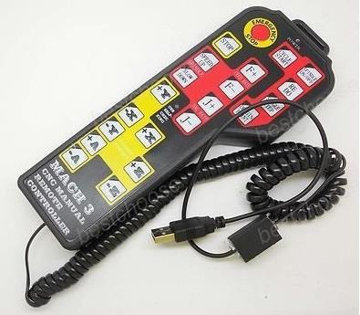 Frete Grátis! 1pcx para Mach3 SÓ, Interruptores de Controle remoto CNC 4 Eixo Pingente USB Manual de Controle remoto codificador JOG sensor