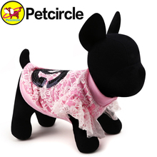 2015 Peicircle Beautiful Dog Shirt Clothes Sweet New Fashion Pet Dog Costume 2 Colors Size XXS XS S M L Free Shipping