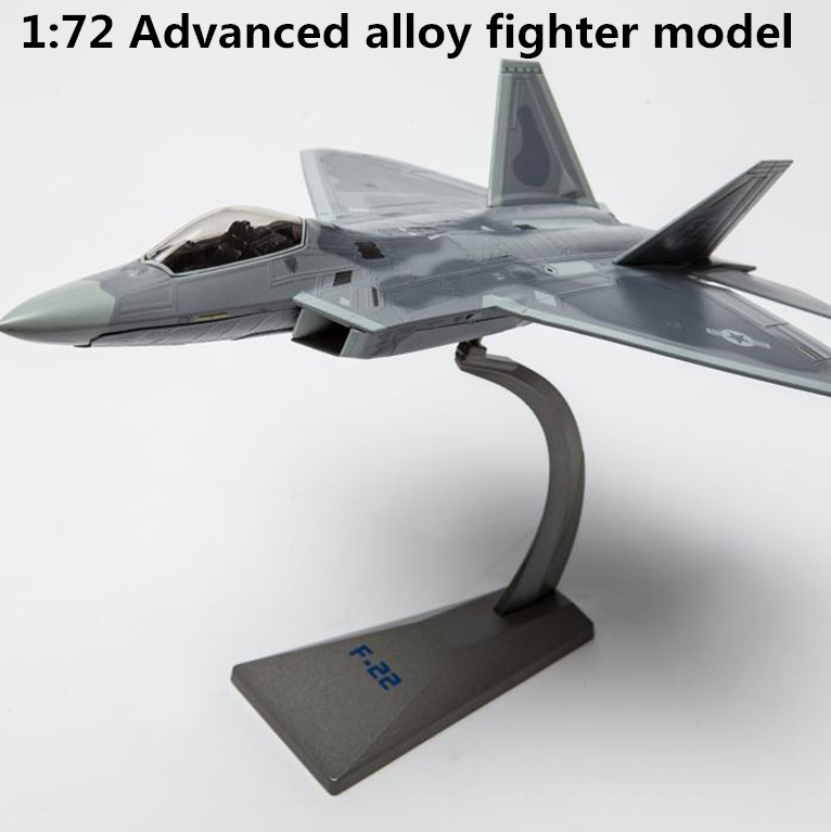 все цены на 1:72 advanced alloy model fighter,high simulation F22 Raptor stealth bomber,educational toys, collection model,free shipping онлайн