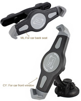 Rotary Window Suction Car Back Seat Headrest Tablet GPS Holders Stands Mounts For IPad 2 3