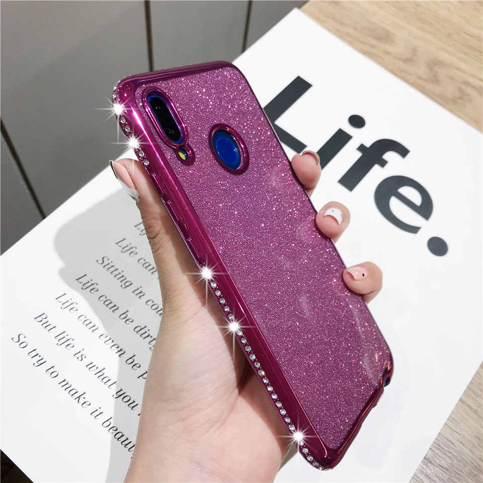 Luxury Diamond Case For Huawei P20 Lite P30 Pro Mate 20 10 Cover Silicone Bling Soft Phone Cases Honor 8X 7X 10 9 Note 10 8C 7C