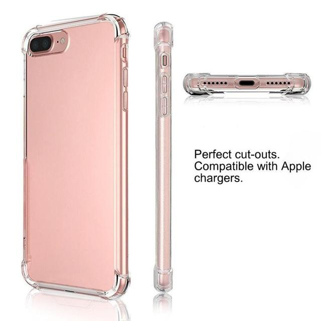 best service 3635a 1aed2 US $1.18 30% OFF| Hot sale Ultra Slim Lightweight Transparent Soft Gel TPU  Silicone Cover for iphone 8 Plus Case 5.5 inch In stock Drop shipping-in ...